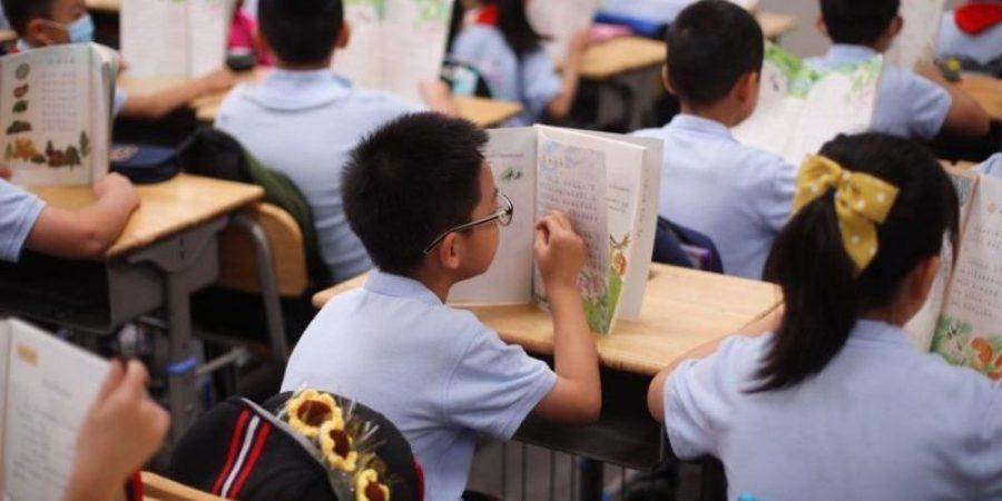 إحدى المدارس الصينية   تعبيرية