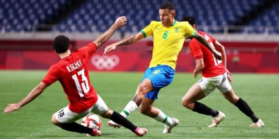 من لقاء البرازيل ومصر في أولمبياد طوكيو